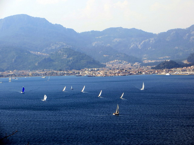 Regatta in front of Marmaris town