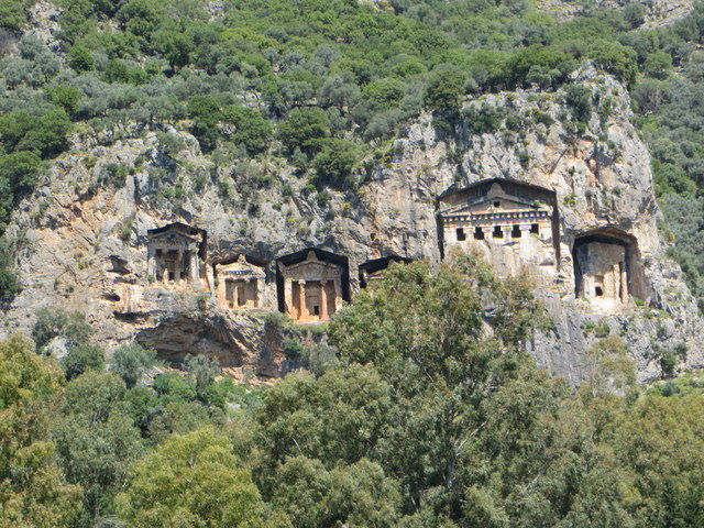 Lycian rock tombs, Dalyan River