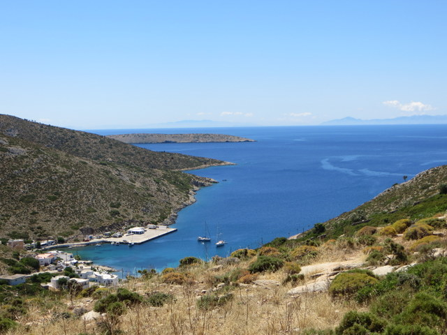 View of the town and bay, Agathonisi