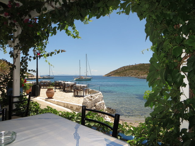 View of Sabbatical III from taverna