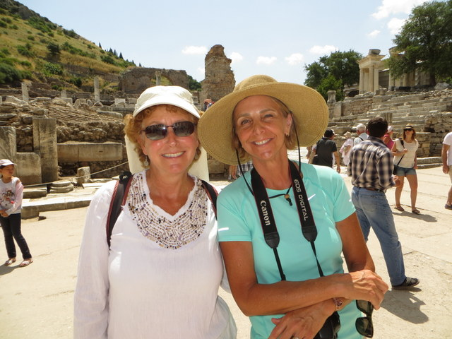 Laura and Janet remember that they need to return a book to the Library at Ephesus