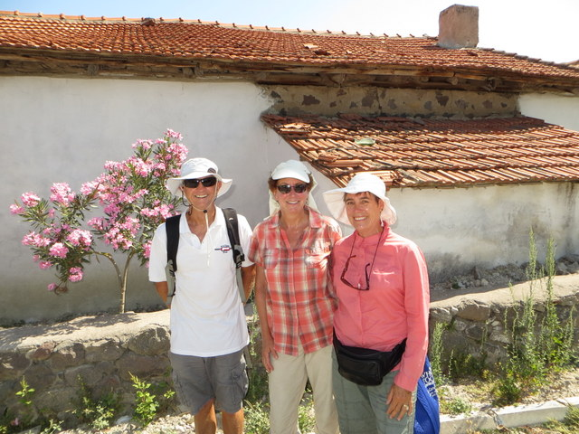 "Dave and Melinda from ""Sassoon"" with Laura during our walk through Bademli town"