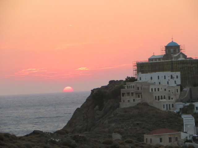 Sunset on Laura's birthday, Psara
