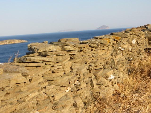 Stone wall, Stefanos Bay, Kynthos Island