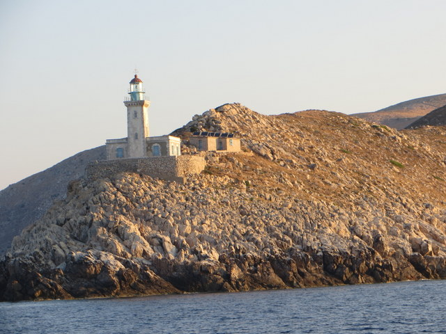 Lighthouse at Cape Grosso, south of Kayio (only Gibraltar is further south in Europe, and then only by 14 miles)