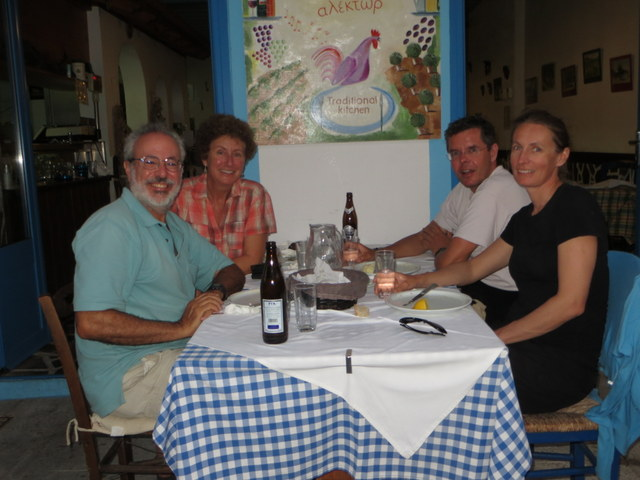 Dining in Methoni with Michael and Britta of Vera
