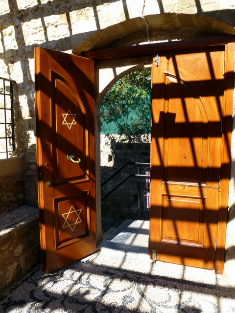 Entrance to the Kahal Shalom Synagogue, La Juderia, Rhodes