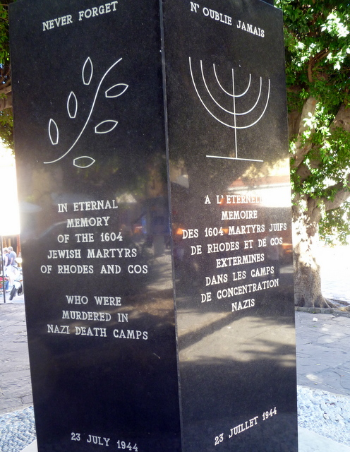 Holocaust Memorial in public square, Rhodes