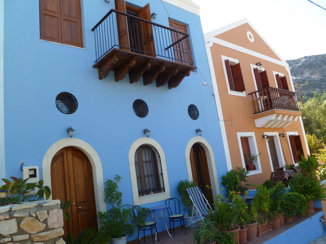 Restored houses, Kastellorizo