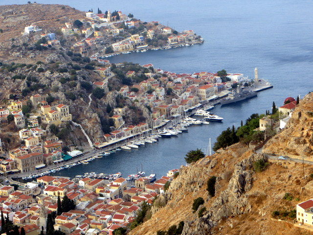 View of Symi Harbor