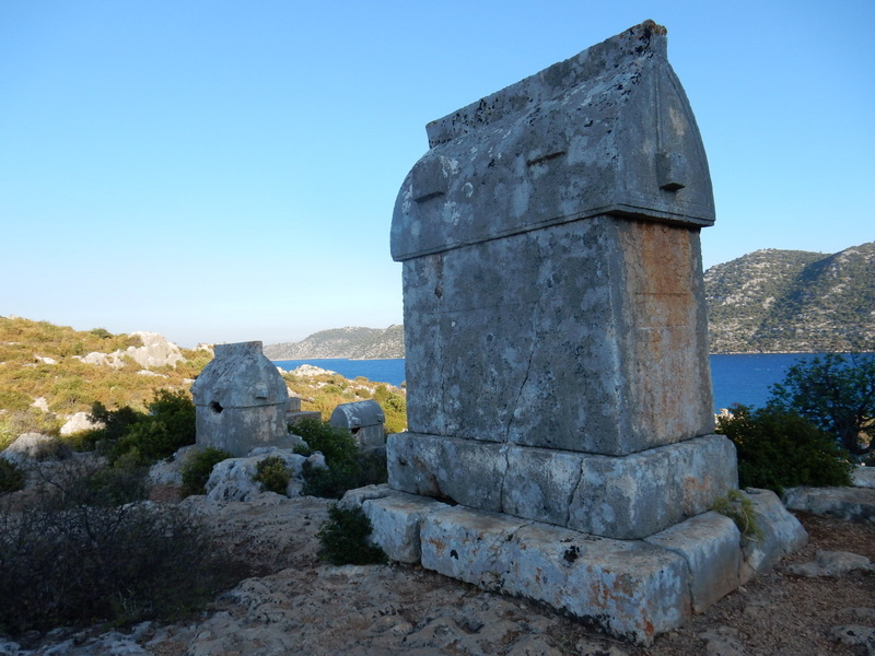Sarcophagi at Kale Koy, Kekova