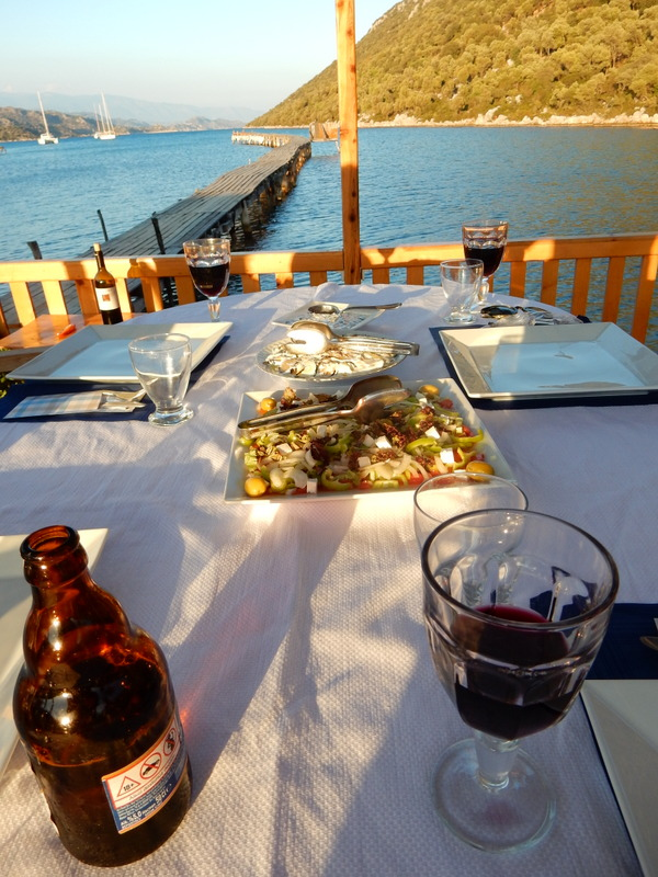 Dinner at the Aperlai Restaurant, Kekova