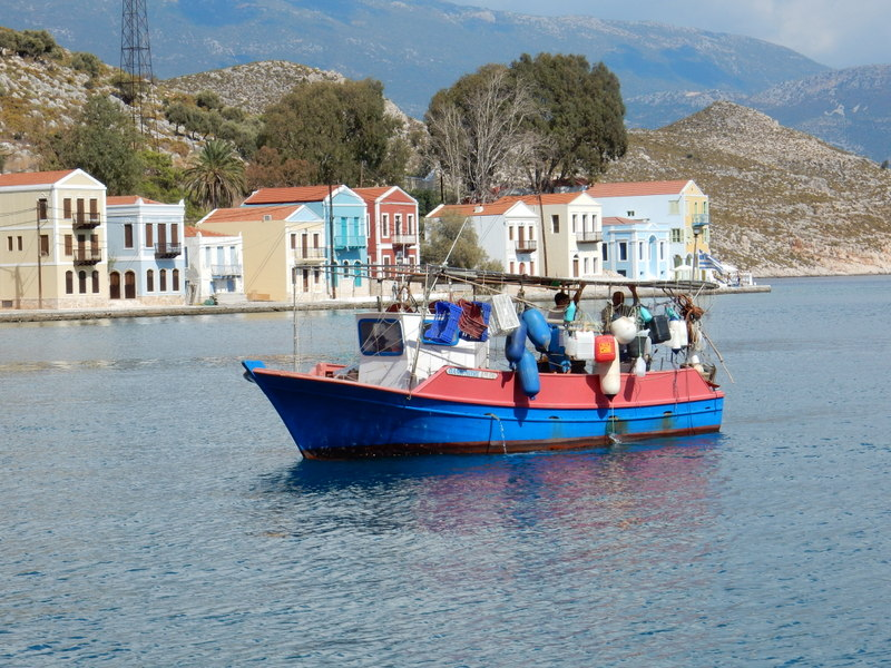 Fishing boat in Kastellorizo