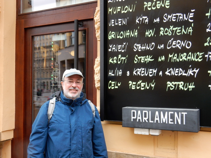 Mark at the Parlament Restaurant