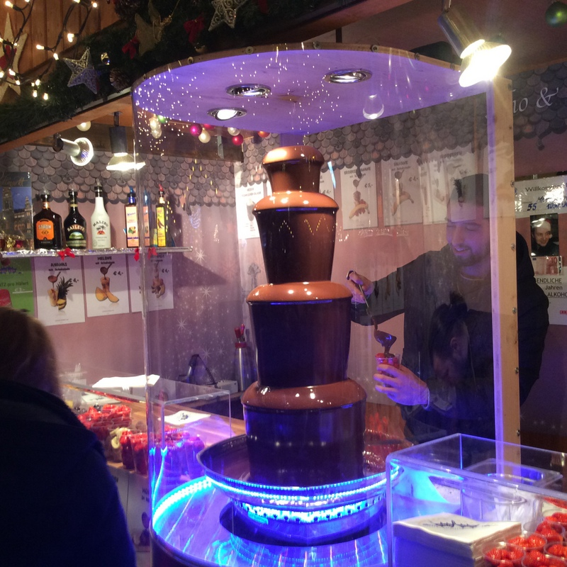 Chocolate fondue at Christmas Market