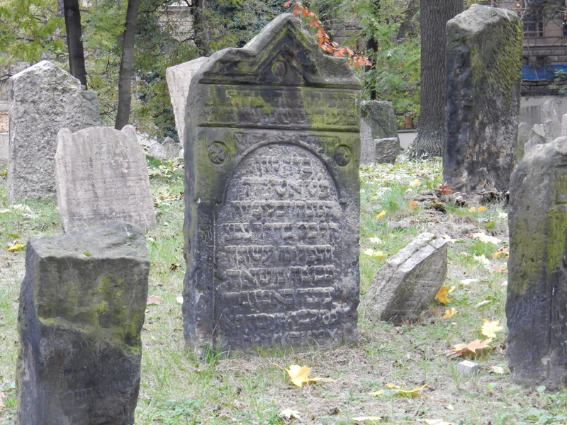 Old Jewish Cemetery.  Oldest tombstone dates to 1439.