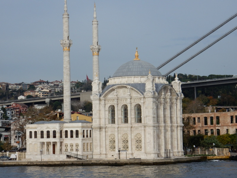 View of mosque from the hop-on-hop-off ferry