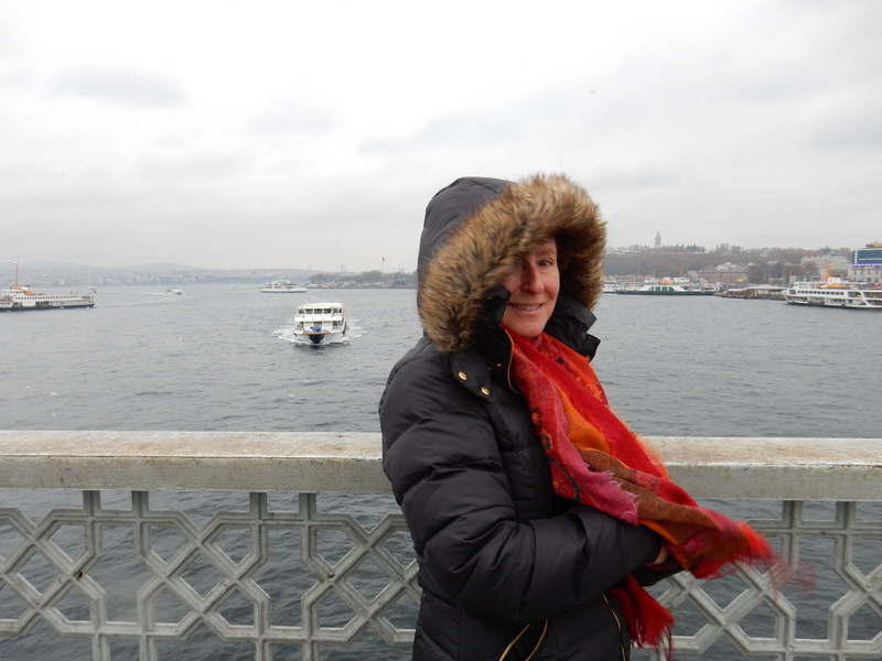 Galata Bridge in cold weather