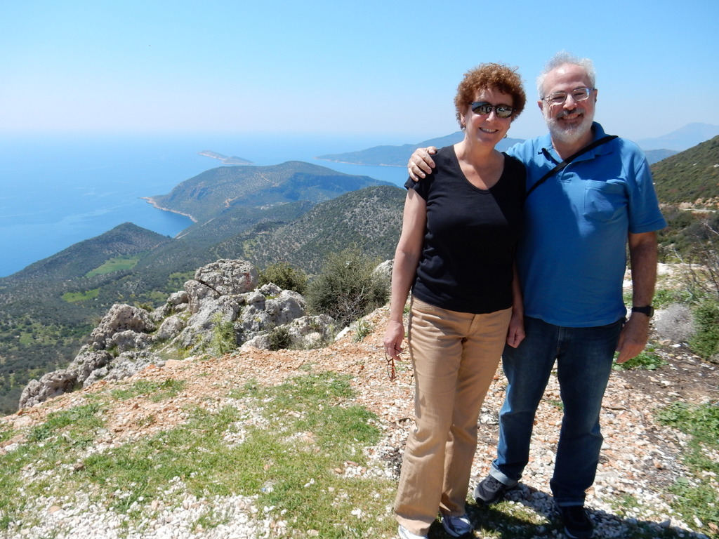 On the road above Kalkan