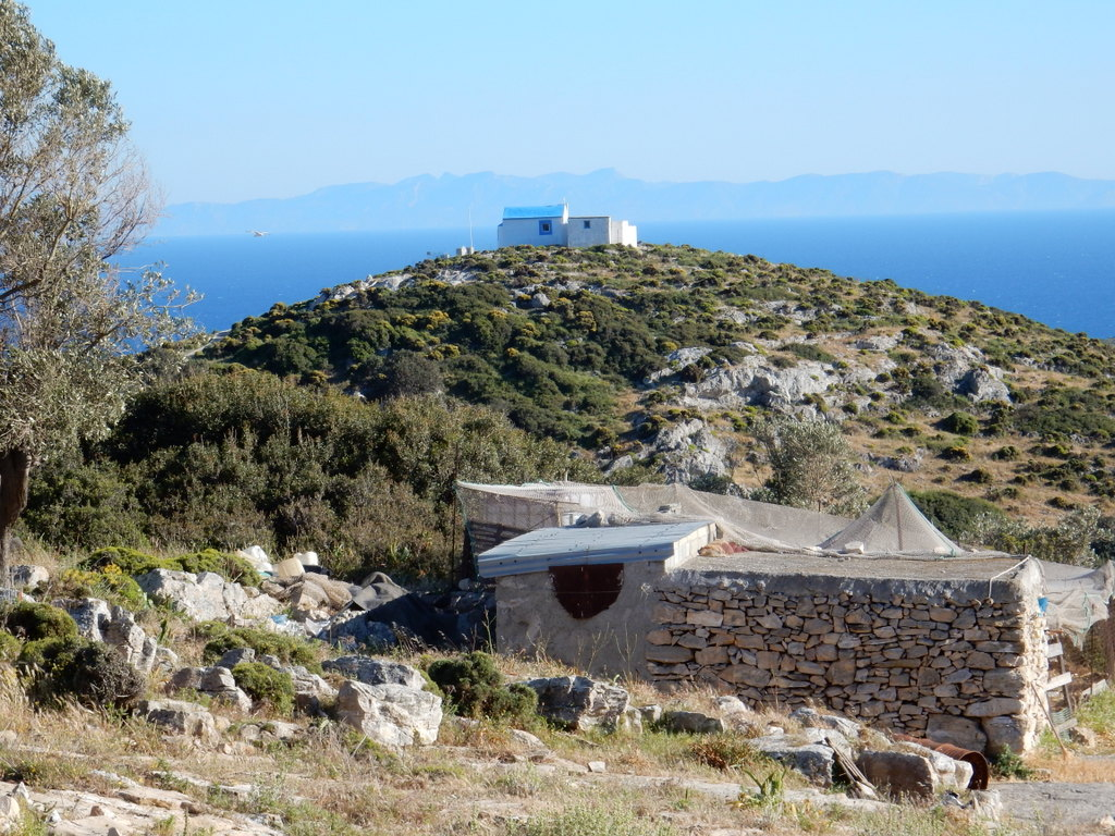 View from Mikro Horio (hilltop village), Agathonisi
