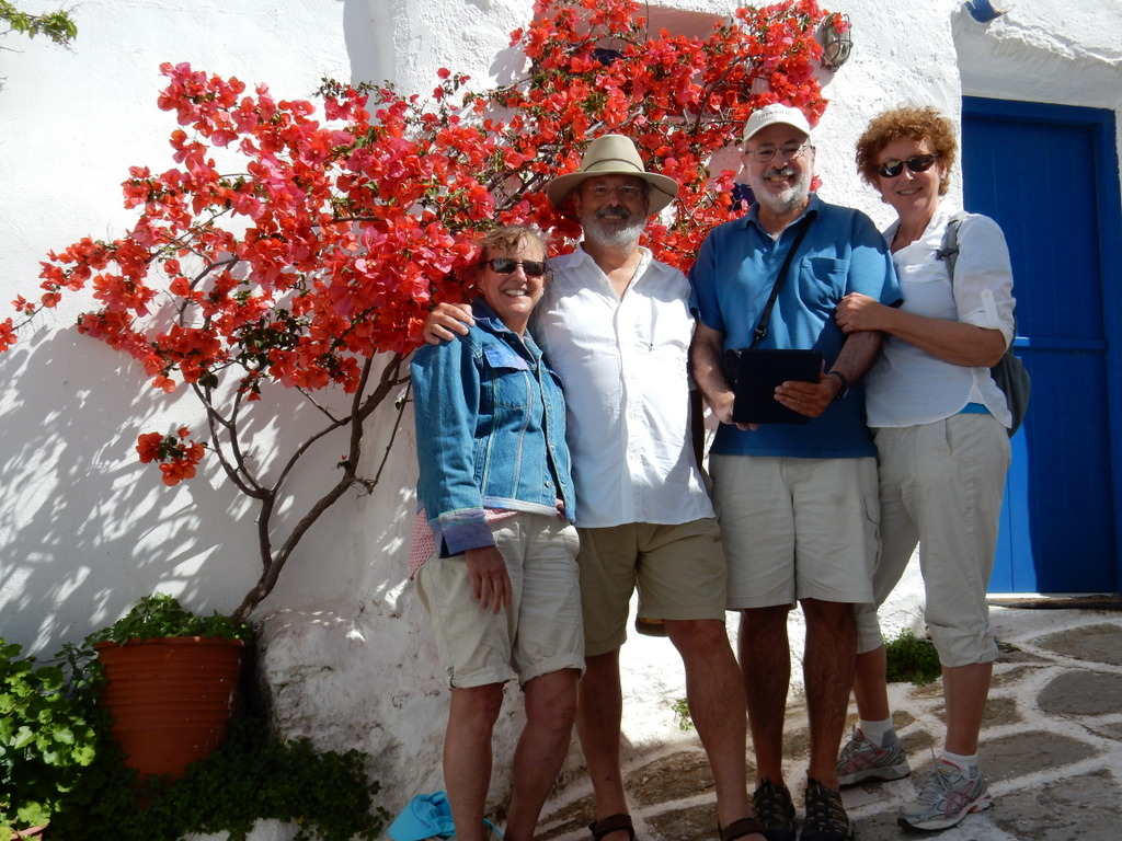 All of us at the highland vilage of Lefkes on Paros Island, Greece