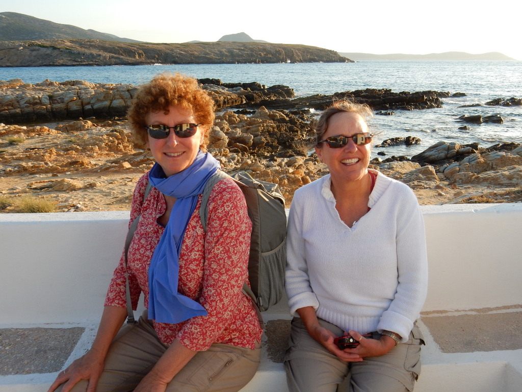 Laura and Cathy, St. Georges, Antiparos Island