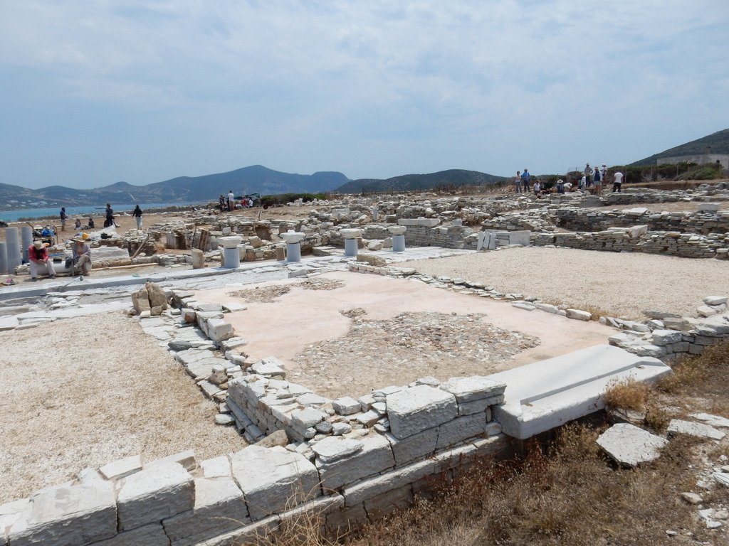 Archaeological dig at Temple to Apollo, Despotiko Island (adjacent to Antiparos)