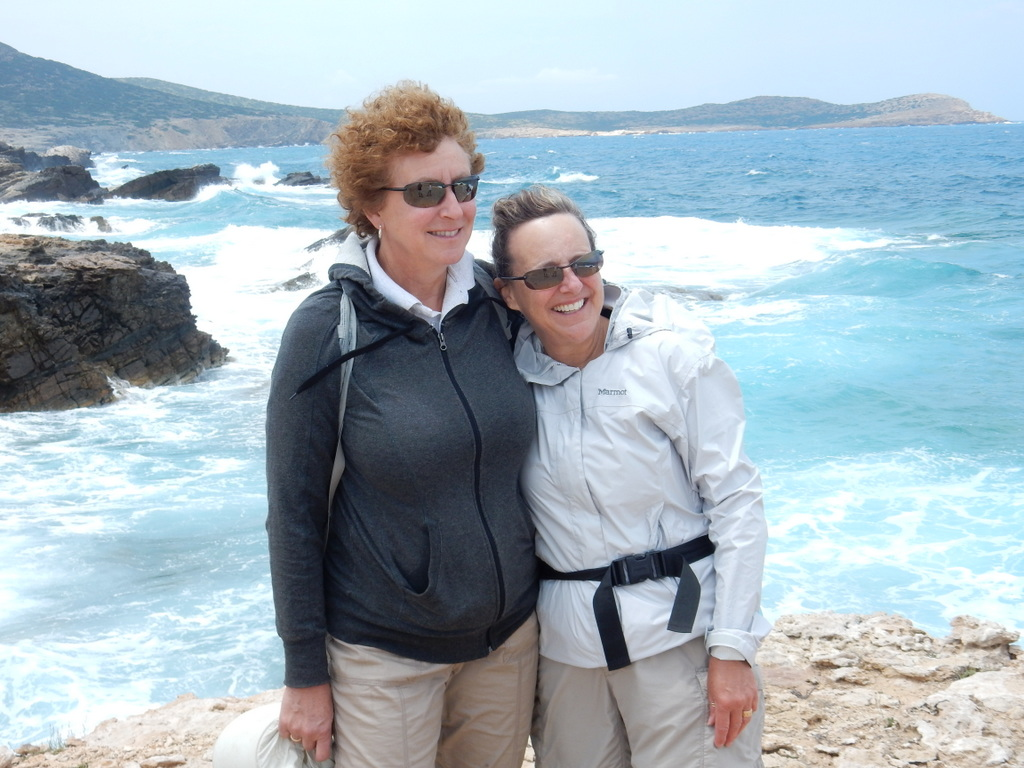 Laura and Cathy on Despotika Island