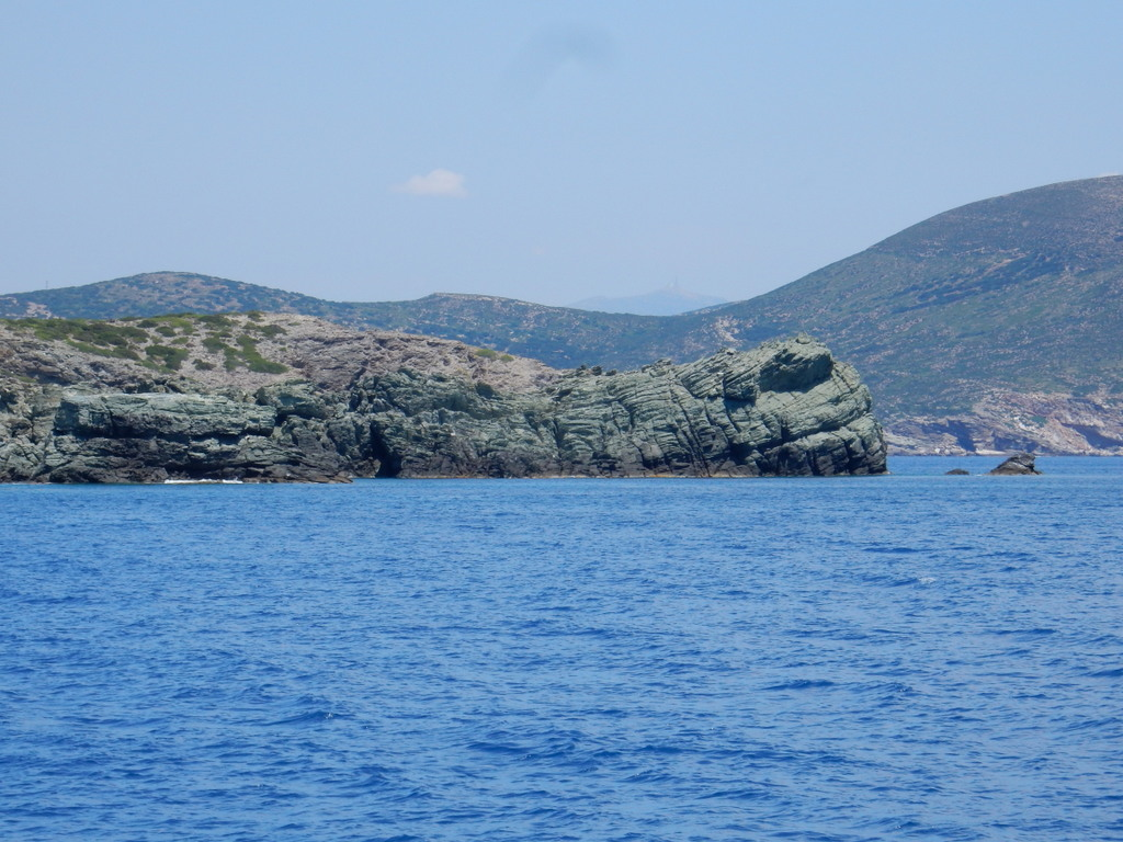 Rock formation that looks like the head of a turtle, Livadi Cove, Despotiko