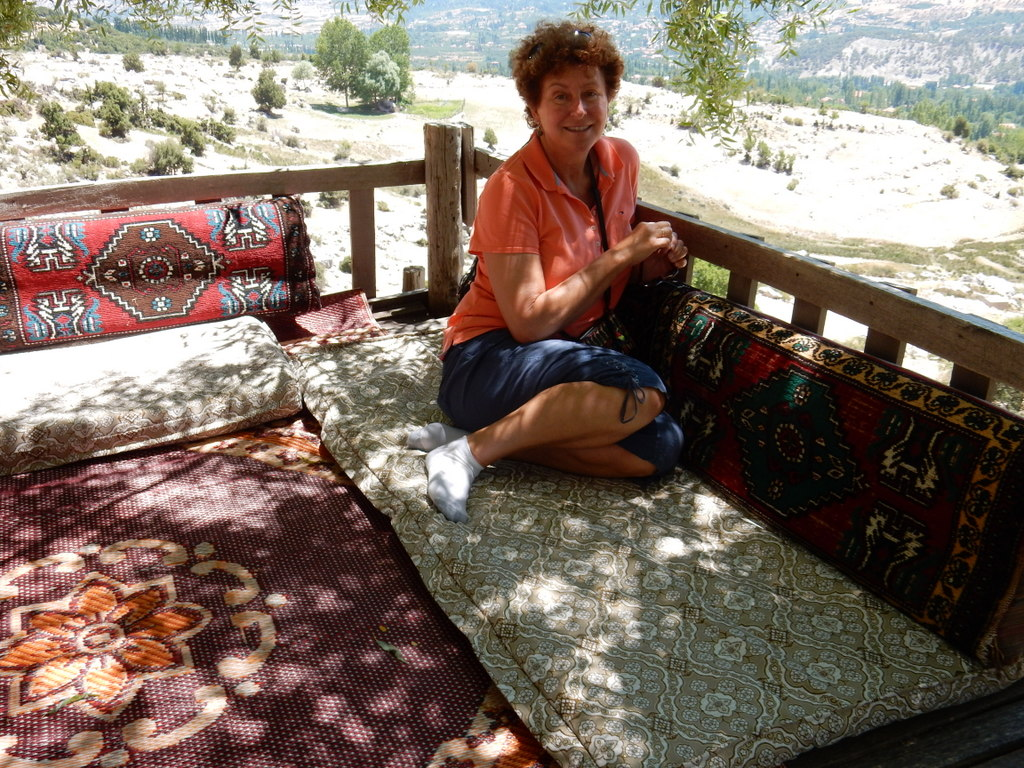 Before leaving for Austria in July, we rented a car and drove to the mountain village of Gombe, just one hour away from Kas.  We had pre-ordered the lamb special which was eaten on a pavilion over a brook carrying snow melt.  Followed by a nap.
