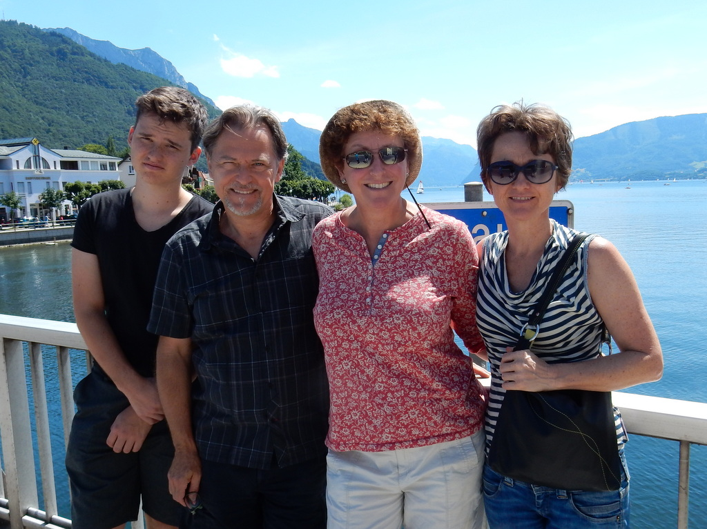 Finn, Peter, Laura, and Alex pose in Gmuden at the northern end of Lake Traunsee
