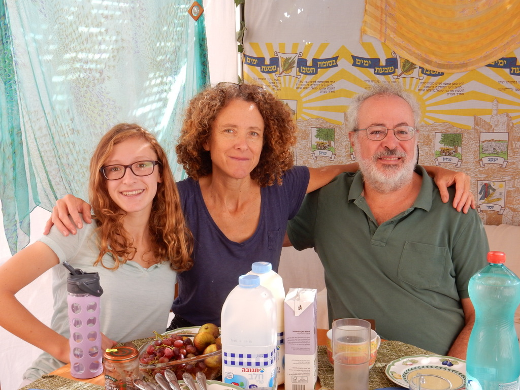 In Diane and Jonathan's sukkah