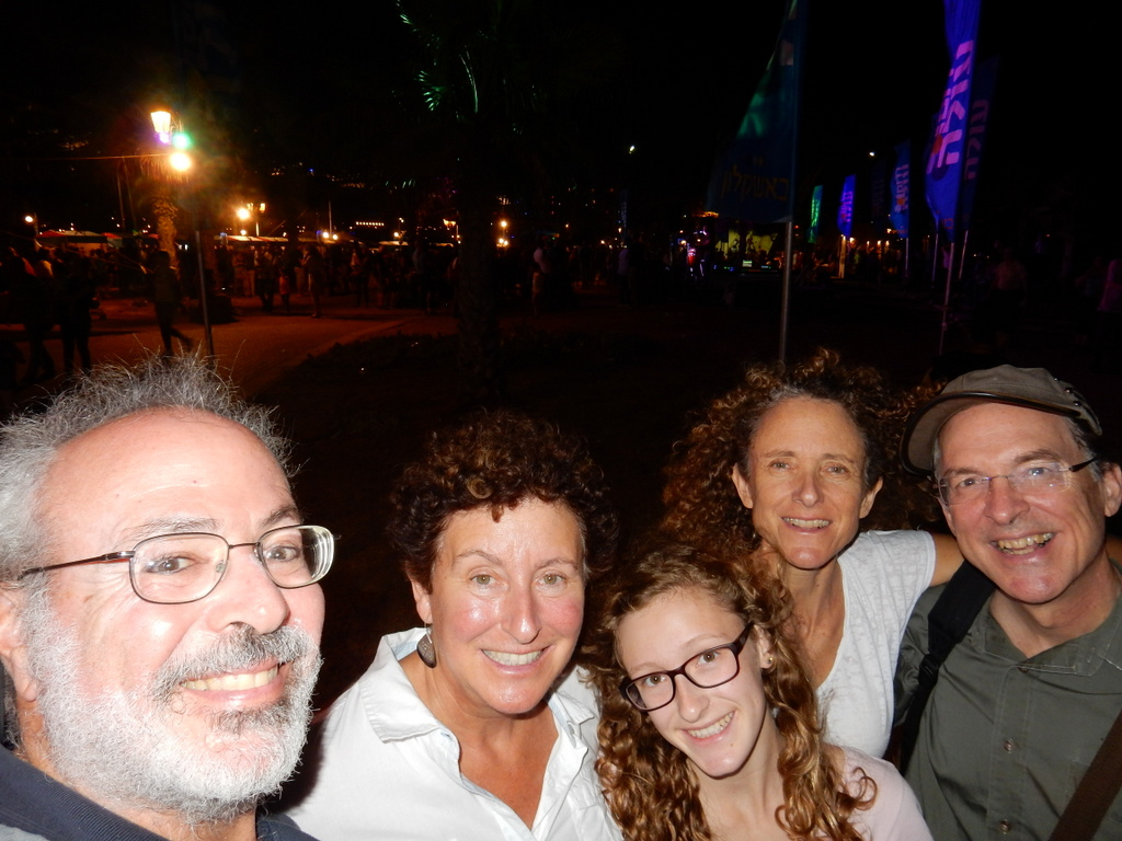 Selfie taken at the Sukkot Festival held on the Ashkelon waterfront