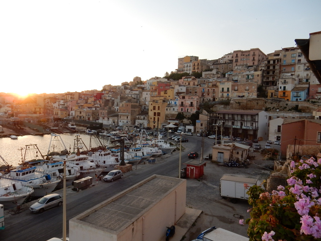 View of Sciacca at sunset