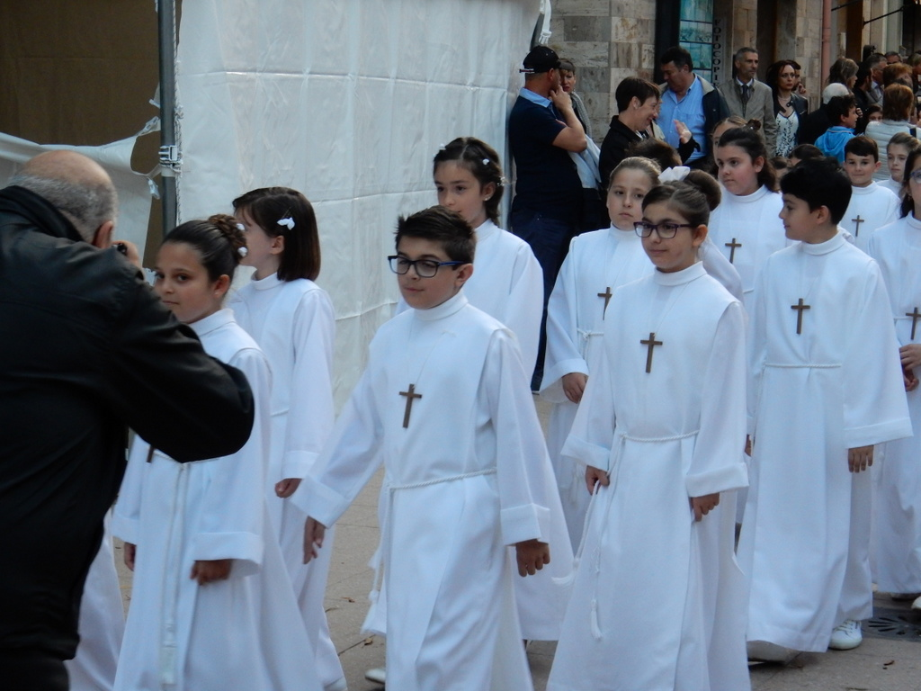 First Communion procession, Carloforte