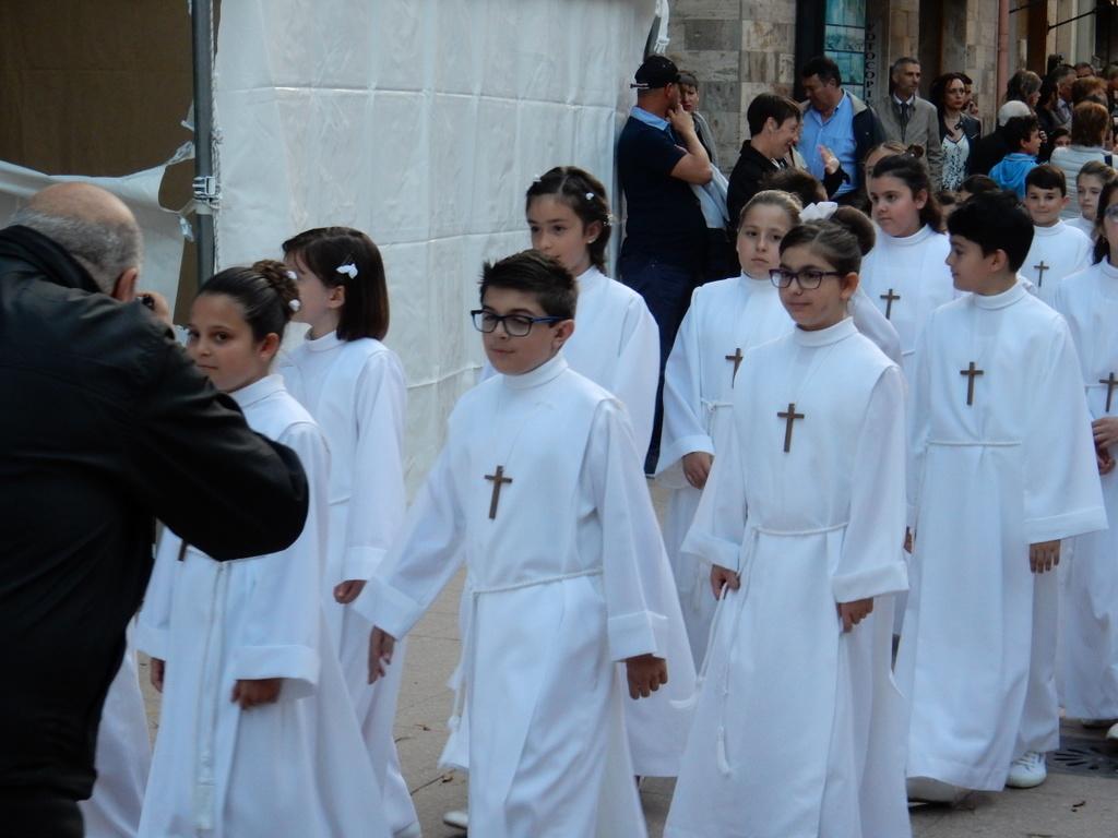 First Communion procession, Carloforte