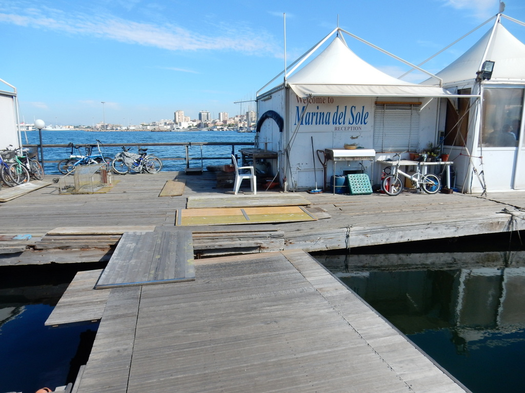 There is a reason that Marina del Sole in much less expensive than other marinas in Cagliari. There are holes in the docks, only one toilet for men and one for women, and it is in a general state of disrepair. However, the staff were very friendly and helpful.