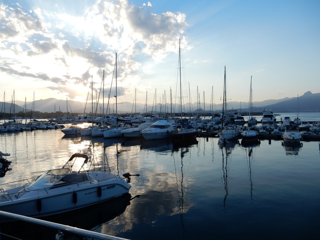 View from Arbatax Marina