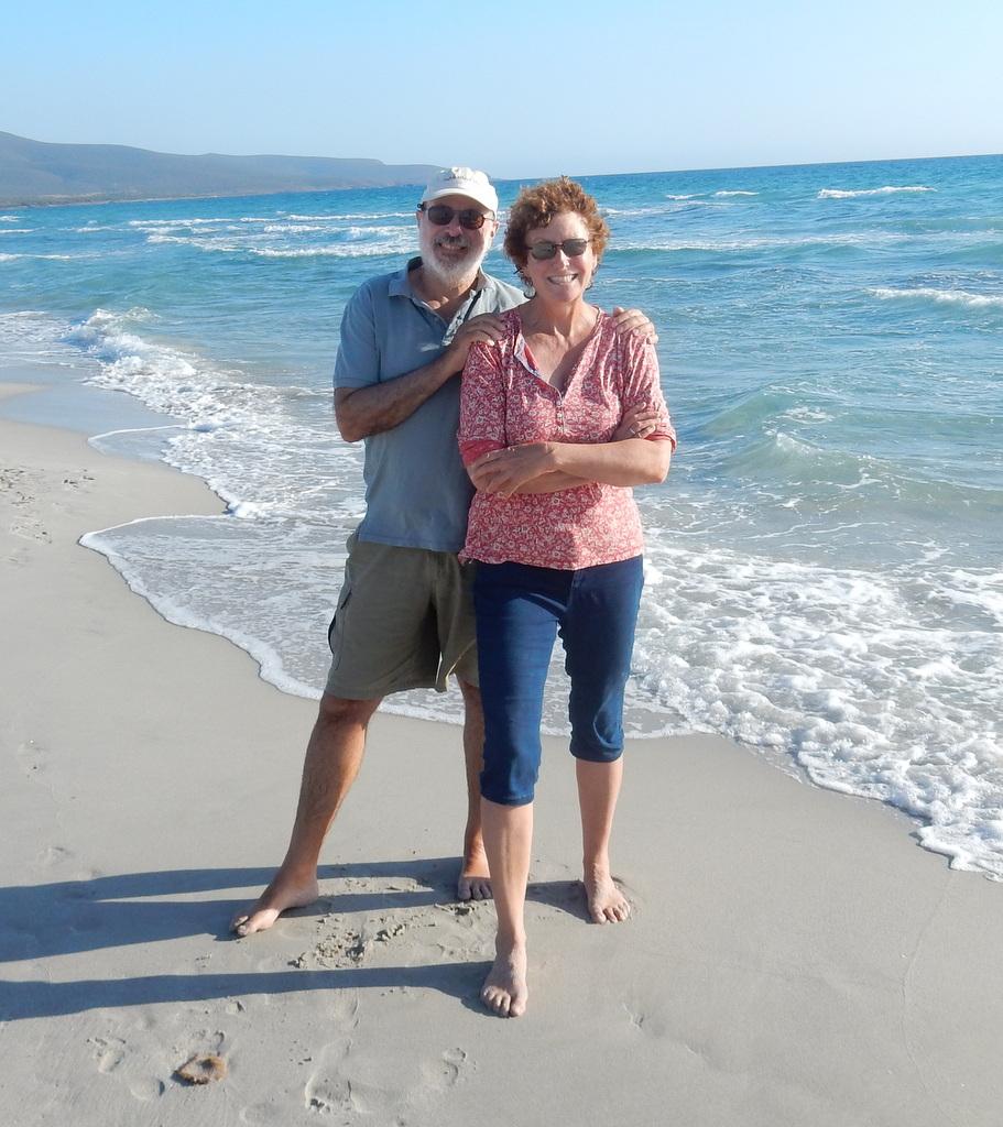 Mark and Laura at Porto Pino