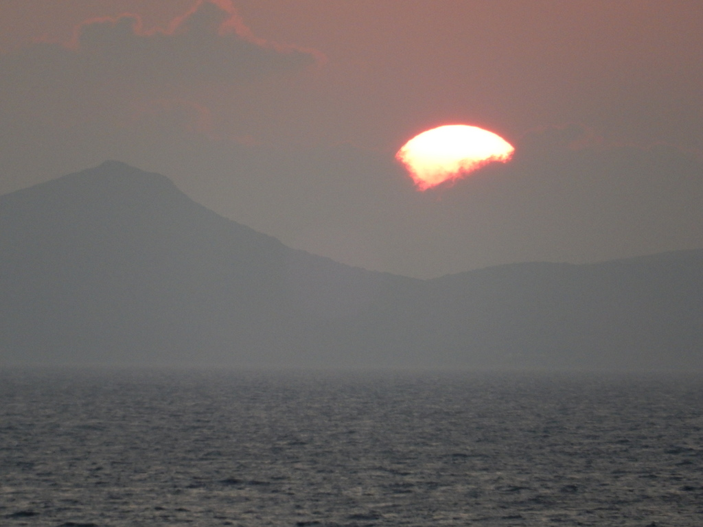Sunset over the Golfo di Palma and Sant'Antioco Island, Sardinia