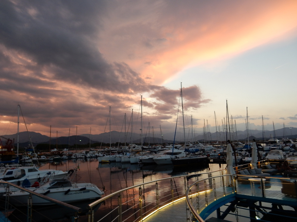 Sunset at the Arbatax Marina