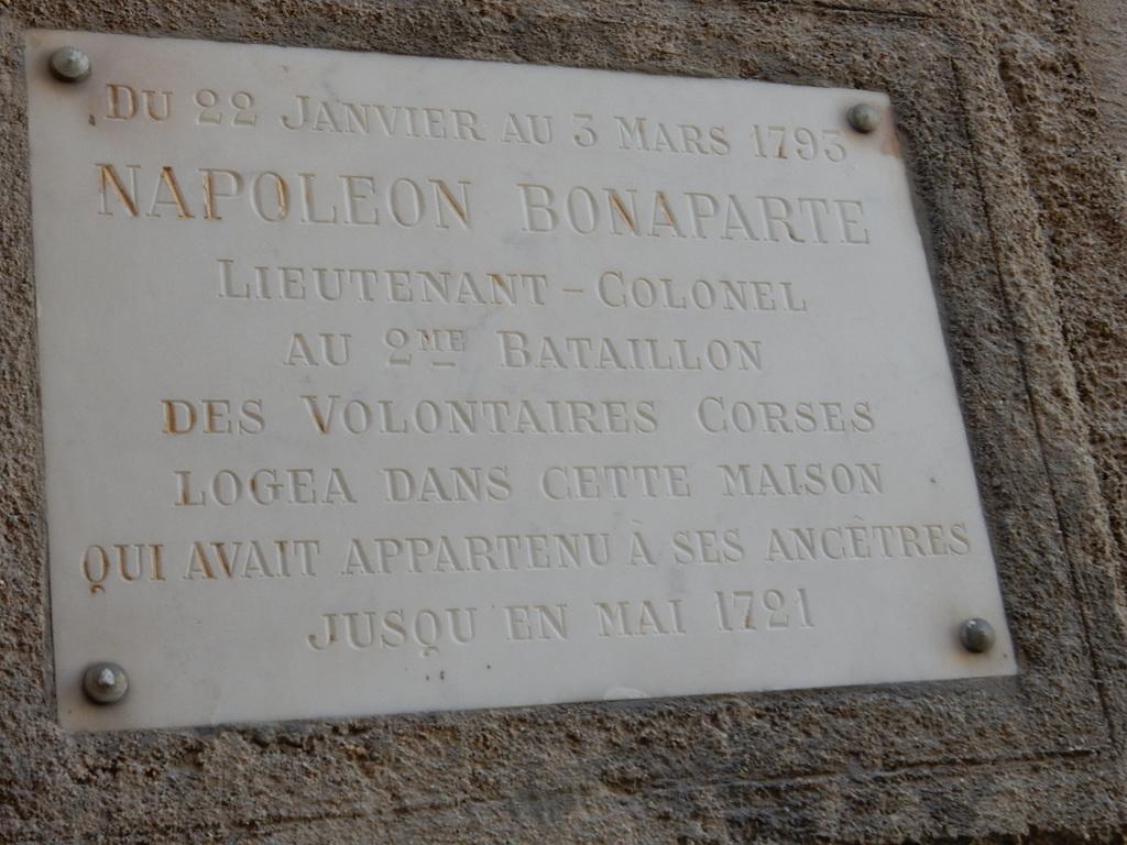 Corsica's most famous son, Napoleon Bonaparte, spent part of this early military career in Bonifacio