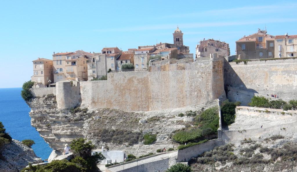 View of the citadel at Bonifacio, Corsica (France)