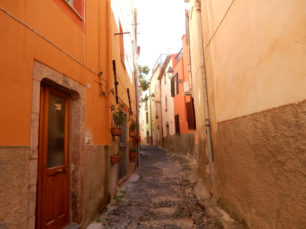 The street leading to the locanda in Bosa